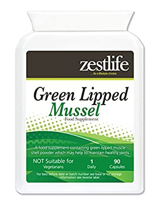 Zestlife GREEN LIPPED MUSSEL 500mg 2 x 90 High Grade and Quick Release Capsules.