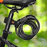 Cofit Serratura a Combinazione, Combinazione di Cavi Ripristinabili a 5 Cifre con Blocco a Spirale con Staffa di Montaggio Adatta per Biciclette, Scooter e Altri Oggetti da Esterno