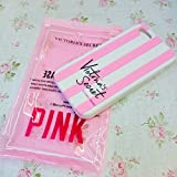 Victoria's Secret Striped Iphone 5 & Iphone 6 case cover silicone rubber Apple Iphone case PINK (Iphone 5 & 5s), [Importado de UK]