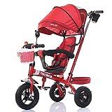 DACHUI 4-en-1 triciclo infantil Paw Patrol, Carro de alta calidad para niños bicicletas para bebé Trikes Empuje 3 Rueda Bicicleta con identificador principal (rojo) (Color : a)