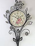 WERLM Personalisiertes Design Home dekorative Wanduhr kunst Uhr legen Sie bohren Container mute Wanduhr garten Uhr kreative Wohnzimmer Schlafzimmer Uhren Wanduhr Bügeleisen art Stil in der Tabelle ist eine Familie Restaurant küchen Büro Schulen sind ideal für jeden Raum