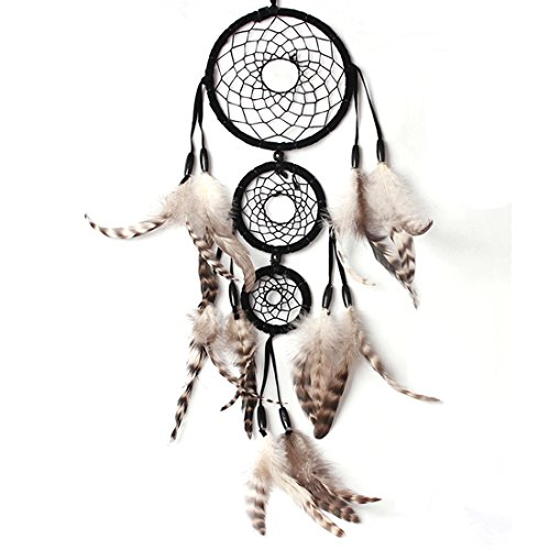 x handgefertigt Dream Catcher Circular Net mit Federn Wand hängende Dekoration Decor Ornament Craft Geschenk Neu (Glow In The Dark-dekorationen Für Raum)