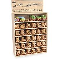 """Buchstabenzug """"M"""" - """"Z"""" aus Holz, zum Spielen, Dekorieren und Lernen, ein ideales Geschenk für viele Anlässe, erweiterbar mit allen Buchstaben des Alphabet"""