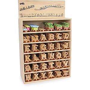 """Buchstabenzug""""M"""" -""""Z"""" aus Holz, zum Spielen, Dekorieren und Lernen, ein ideales Geschenk für viele Anlässe, erweiterbar mit allen Buchstaben des A"""