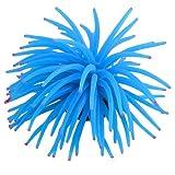 sourcingmap® Blau Tentakel rosa Sanft Aquarium Koralle Wasserpflanze Kunstpflanze 4.7'od de