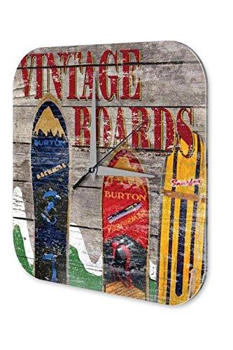 Wanduhr Sport Snowboards Berge Vintage Deko Wand Uhr Vintage Retro (Snowboard Uhr)