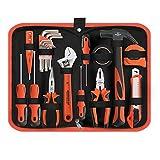 21-teiliges Werkzeugkasten Basic Haushaltswerkzeugsatz mit Zangenschraubendrehern und Schlüssel für DIY Projekte und tägliche Reparaturen perfekt als Housewarming Geschenk
