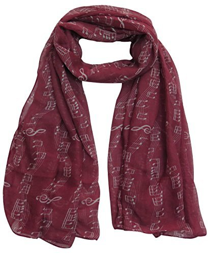 lina-lily-music-notes-print-womens-scarf-oversized-dark-red