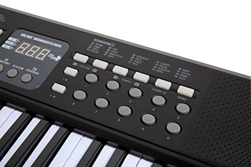 AXMAN T315853 Keyboard inkl. Mikrofon und Netzteilanschluß, 54 Tasten, batteriebetrieben 6 x AA (nicht im Lieferumfang enthalten) - 5