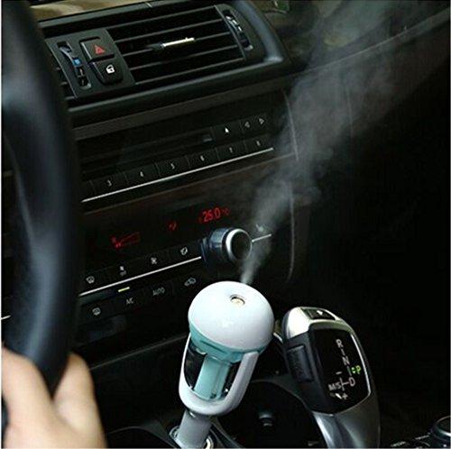 Bestseller Mini Auto portable neue Luftreiniger Büroräumlichkeiten zusätzlich zu Formaldehyd PM2.5 frisch nach Hause Duft Weihrauch Brenner Auto Aromatherapie Luftbefeuchter zusätzlich zu statischen ( Color : Blau )