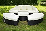essella Polyrattan Sonneninsel Honolulu schwarz als Sitzgruppe mit Tisch