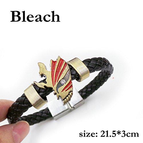 SUNKEE Bleach Cosplay Kurosaki Ichigo Maske Armband Figur Spielzeug Cosplay Requisiten ()