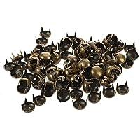 remache redondo - SODIAL(R) 100 pzs 7mm Remache redondo Remaches pernos decorativos de bronce de cono DIY Artesania