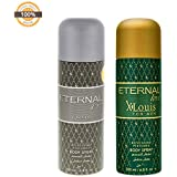 Eternal Love Body Spray, Xlouis Men, 200ml + Eternal Love Body Spray Men, 200ml