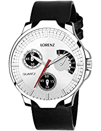 Lorenz White Dial Analog Watch For Men/Watch For Boys - MK-1081A