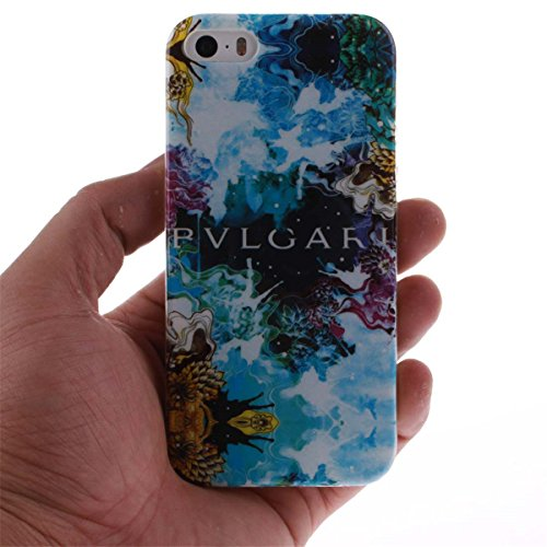 iPhone 5 5S SE Custodia Slim Leggero Flessibile TPU Immagine Leone Case per Apple iPhone 5 5S SE 5G Nero color5