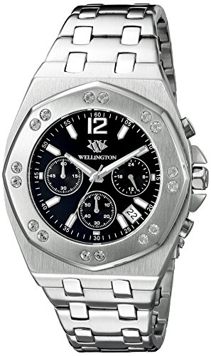 Wellington Darfield Men's Quartz Watch with Silver Dial Chronograph Display and Silver Stainless Steel Bracelet WN511-121
