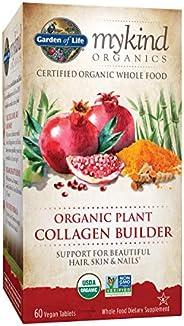 Garden of Life mykind Organic Plant Collagen Builder - Vegan Collagen Builder for Hair, Skin and Nail Health,