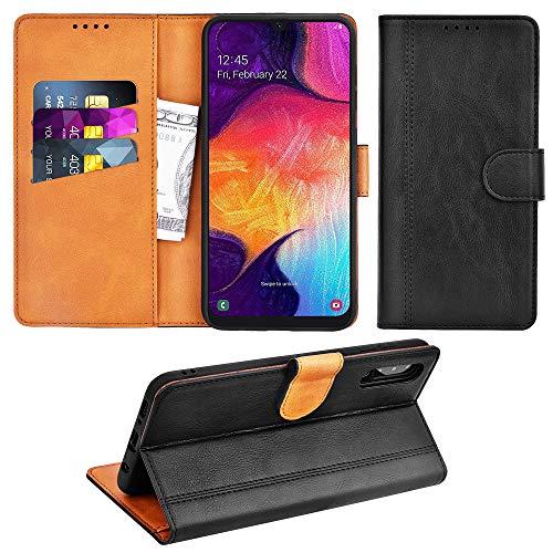 Adicase Coque Galaxy A50 Housse Etui Cuir Portefeuille Case pour Samsung Galaxy A50 (Noir)