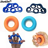 4PCS/lot Hand Grip Strengthener Trainer Finger Stretcher Power Exerciser Gripper For Increasing Wrist Forearm Silicone Grip Ring