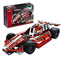 Kids Racing Car Construction Building Blocks and Bricks Intelligence Learning and Activity Toys for Children Girls Boys Age Over 4 Years Old