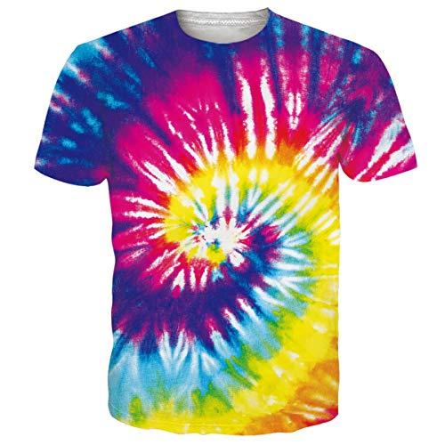 Sommer Farben (NEWISTAR Unisex 3D Druckten Sommer-beiläufige Kurze Hülsen-T-Shirts T-Stücke)