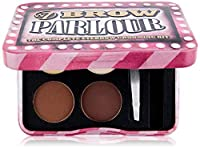 It has two brow shades brown and blonde;Comes with a brow wax, highlighter, 2 brow powders, mini tweezers and mini brush;The light weight tin packaging in pink is really gorgeous and eye-catching;It looks like packaging is in 3D;It also comes with go...