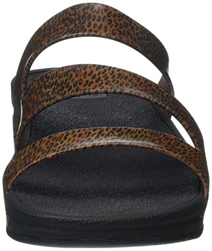 FitFlop - Superjelly Twist Leopard, Scarpe spuntate Donna Multicolour (Cheetah Brown)
