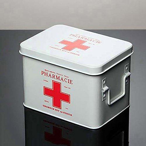 Medizinschränke Medizin-Box Haushalt Notfall verzinktem Blech Apotheke Multilayer-Sicherheitsschloss Erste-Hilfe-Kit Medizinischer Schrank Medizinische Untersuchung Box Notfall-Medizin-Box Drogen-Aufb -