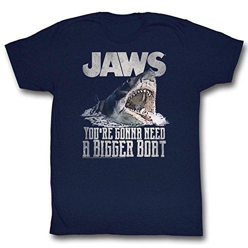 Jaws - Herren Real Big T-Shirt Navy