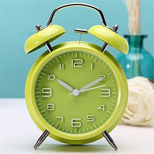 LLSJZ Moda simple metal reloj despertador digital