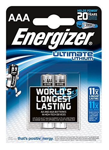 Energizer Ultimate Lithium Micro AAA 1,5V (2 Stück) Energizer Lithium-ionen