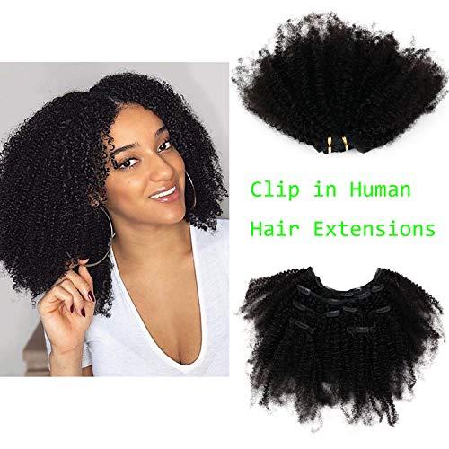 Eseewigs Afro Kinky Rizado en extensiones de cabello Cabello humano vi