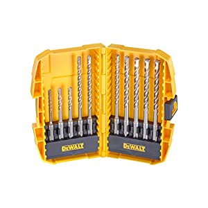 51F1RYMruWL. SS300  - Dewalt Juego de Brocas de percusión Torsion DT7935B-QZ, 10 Piezas en Caja de Accesorios Midisafe