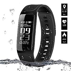 Pulsera de Actividad, ELEGIANT Reloj Inteligente Bluetooth 4.0 Monitor de Hombre Mujer IP67 Brazalete de OLED Pantalla… 2