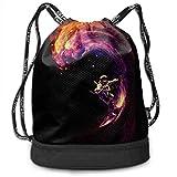 BAOQIN Color Bundle Backpack Drawstring Backpack