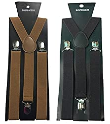 Atyourdoor Y- Back Suspenders for Men(Choco & Dark Brown Color)