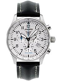 Junkers Herren-Armbanduhr XL Hugo Chronograph Quarz Leder 66841