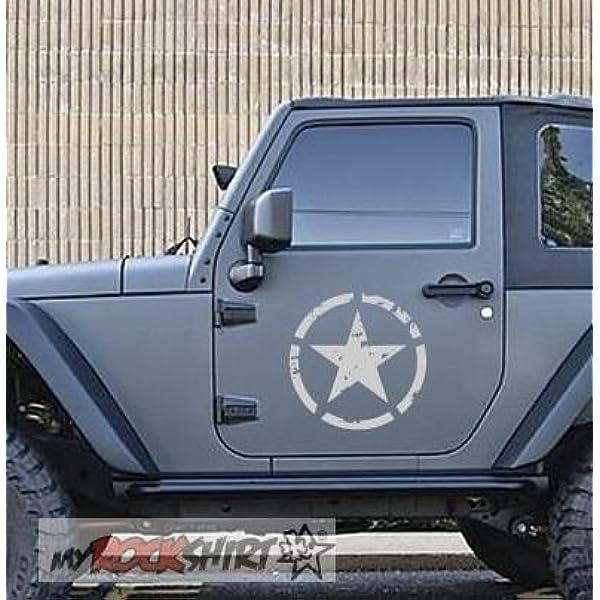 Myrockshirt 2 X Kompatibel Für Geländewagen Offroader 4x4 Jeep Stern 40 Cm Willi Us Army Force Aufkleber Sticker Autoaufkleber Auto Lack Scheibe Tuning Auto