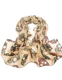Amazon.fr   foulard tete de mort - Foulards   Echarpes et foulards ... a3e72c3498a