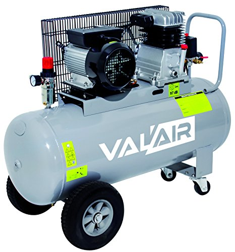 VAL'AIR CE-100L Compresseur d'Air Bi-Cylindre, 100 L