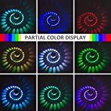 Avira Electricals 3W Spiral Led Decorative Wall lamp with Remote,Multicolour