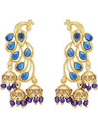 The Luxor Traditional Gold Plated Peacock Jhumki Earring For Women And Girls(ER-1760)