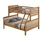 Maxi Beech Finished Hardwood Triple Sleeper Bunk Bed. 2Man Delivery