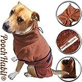 PoochHabit Weiche Microfaser Hund Bademantel Easy Wear Super saugstarker Badetuch