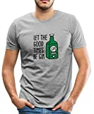 Spreadshirt Let The Good Times Be Gin Flasche