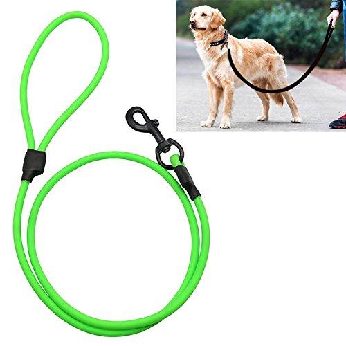 Happy-L Heimtierbedarf, PVC-Material Hunde Zugseil Verschleißfester wasserdichter Zuggurt Pet mit Griff, für mittlere und große Hunde, Seillänge: 150 cm (Farbe : Grün) (So So Happy Hoodie)