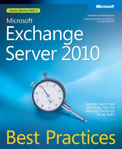 Microsoft?? exchange server 2010 best practices (it best practices - microsoft press) by siegfried jagott (2010-07-06) EPUB Téléchargement gratuit!