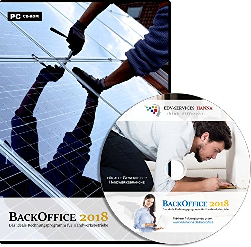 BackOffice 2018 Professional (Lizenzdauer: 1 Jahr) - Rechnungsprogramm für Handwerker, Maler & Lackierer, Fliesenleger, Bodenleger, Dachdecker, etc.