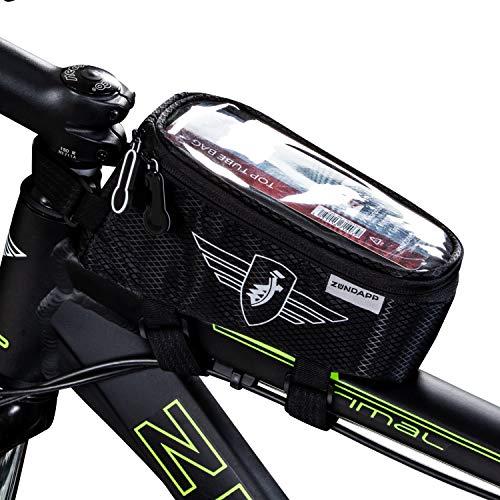 Zündapp Fahrradtasche Oberrohrtasche Fahrrad Rahmentasche Handy Smartphone